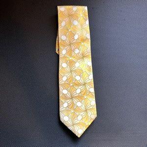 Banana Republic Men's Silk Tie Yellow NEW